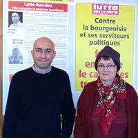 Photo  de © ubacto.com - Antoine Colin, Françoise Beucher Lutte Ouvrière La Rochelle 2014