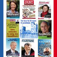 Photo  de © #LR2014 8 candidats au 1er tour à La Rochelle