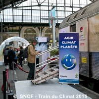 Photo  de © Photo : Trains Expo SNCF - Train du Climat octobre 2015