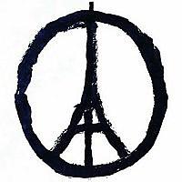 Photo  de © Peace for Paris, dessin de Jean Jullien que nous remercions.