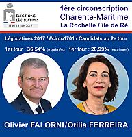 © Législatives 2017 Circo 1701 : 2e tour entre Olivier Falorni et Otilia Ferreira