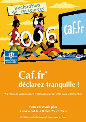 Publicard : Caf.fr* déclarez tranquille ! - en images - ubacto La ...