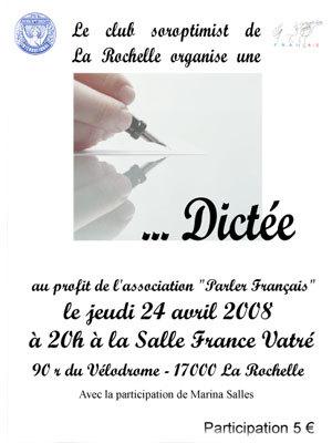 Photo : Dictée Soroptimist La Rochelle 24/04 ( cliquez pour revenir à la page précédente )