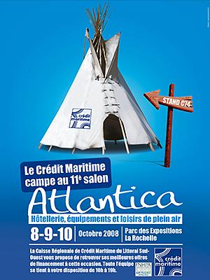 Photo : Le Crédit Maritime L.S.O au salon Atlantica - La Rochelle du 8 au 10 octobre