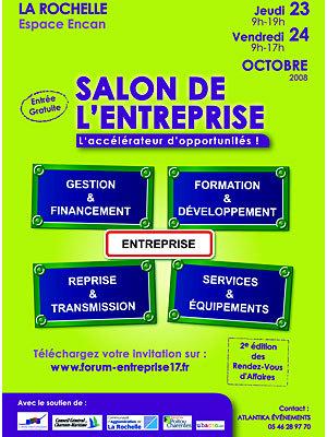 Photo : Conférences à La Rochelle au salon de l'Entreprise les 23 et 24 octobre 2008