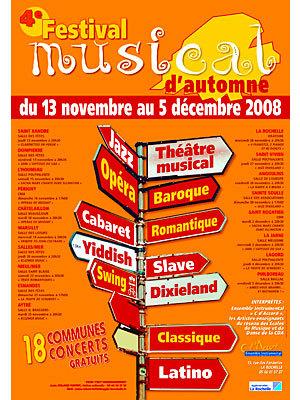 Photo : Agglo de La Rochelle : Festival musical d'automne du 13/11 au 5/12/08