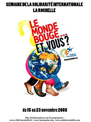 Photo : Semaine de la Solidarité Internationale à La Rochelle 15 - 23/11/08