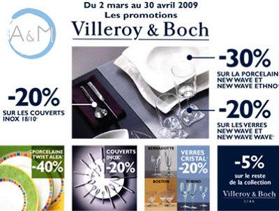 Photo : A & M La Rochelle : promotion Villeroy & Boch jusqu'au 30 avril 2009