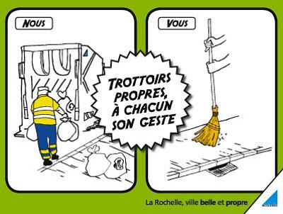 Photo : Trottoirs propres, à chacun son geste