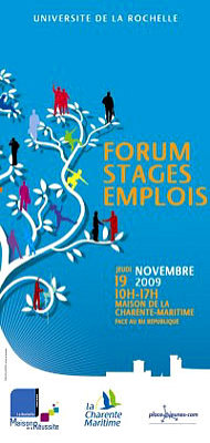 Flyers la rochelle forum stage emploi de l 39 universit - Office de tourisme la rochelle recrutement ...