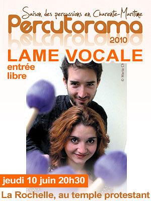 Photo : La Rochelle : Percutorama, Lame Vocale en concert jeudi 10 juin 2010