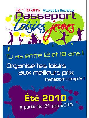 Photo : La Rochelle et Agglo : Passeport loisirs jeunes, été 2010