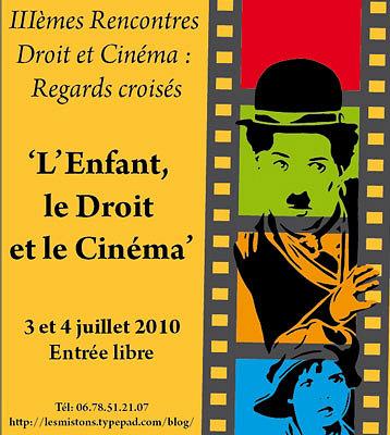 Photo : Colloque à La Rochelle : l'enfant, le droit et le cinéma, samedi 3 et dimanche 4 juillet 2010