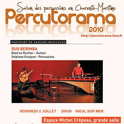 Photo : Percutorama : Duo Berimba en concert à Nieul sur mer vendredi 2 juillet 2010