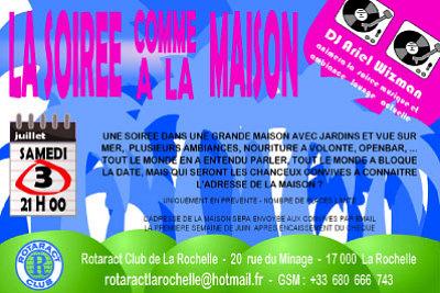 Photo : Rotaract à La Rochelle : soirée comme à la maison, samedi 3 juillet 2010