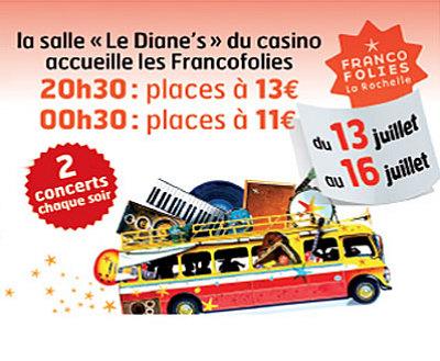 Photo : Les Francofolies du Casino de La Rochelle : concerts et clubbing du 13 au 16 juillet 2010