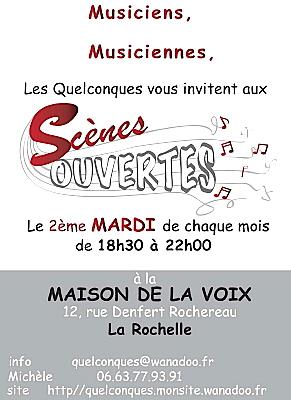 Photo : a Rochelle - Musique : scènes ouvertes Les Quelconques 2010-2011