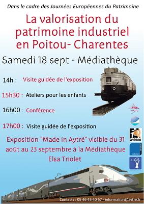 Photo : Patrimoine industriel à Aytré, samedi 18 sept. 2010