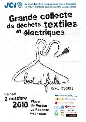 Photo : La Rochelle JCE : collecte textiles et DDE, samedi 2 octobre 2010