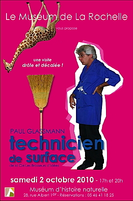 Photo : La Rochelle : visites théâtralisées au Muséum à 17h et 20h, sam. 2 oct. 2010