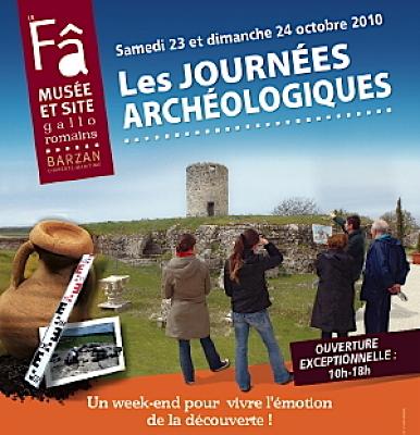 Photo : Charente-Maritime : journées archéologiques du Fâ - Barzan les  23 et 24 octobre 2010