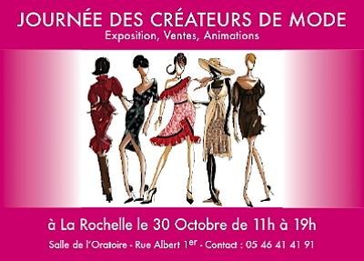 Photo : La Rochelle : journée des créateurs de mode samedi, 30 oct. 2010 - Vide atelier le 31