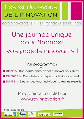 Photo : La Rochelle : Rendez-vous de l'innovation, mardi 9 novembre 2010