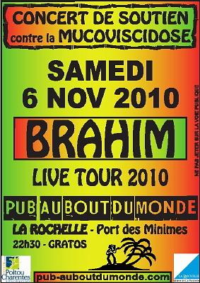 Photo : La Rochelle : concert reggae contre la mucoviscidose, samedi 6 nov. 2010