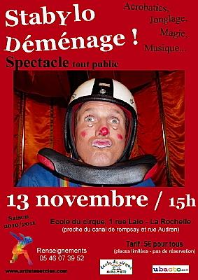 Photo : La Rochelle : Stabylo, spectacle jeune et tout public, 13 nov. 2010 à 15h