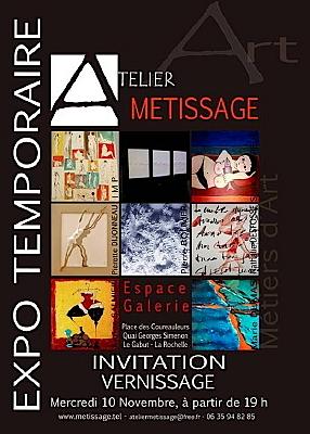 Photo : La Rochelle : expo collective avec Métissage non. 2010 - janvier 2011