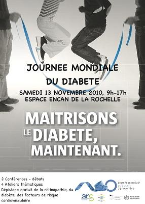 Photo : La Rochelle : Journée mondiale du diabète, samedi 13 novembre 2010