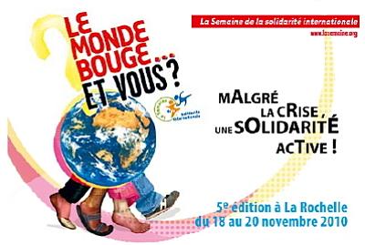 Photo : La Rochelle : solidarité internationale du 18 au 20 nov. 2010