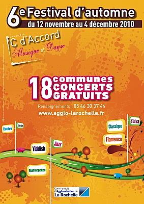 Photo : La Rochelle Agglo : concerts au 6e Festival d'Automne jusqu'au 4 dec. 2010