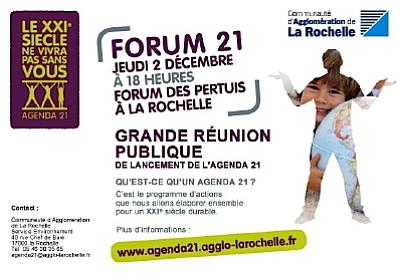 Photo : La Rochelle : réunion publique Agenda 21, jeudi 13 janvier 2011