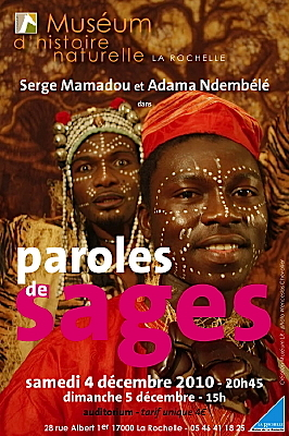 Photo : Muséum de La Rochelle : Paroles de sages les 4 et 5 décembre 2010