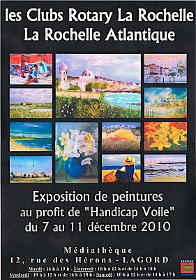 Photo : La Rochelle - Lagord : exposition au profit de Handicap Voile, 7-11 décembre 2010