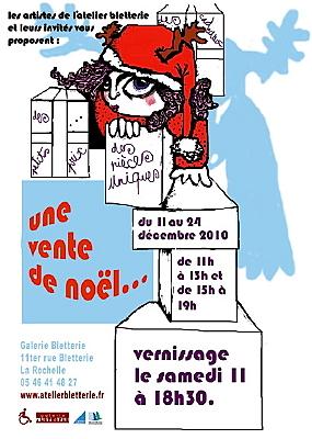 Photo : La Rochelle - exposition de Noël à la galerie Bletterie du 11 au 24-12-2010