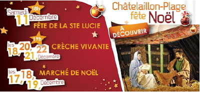 Photo : En Charente-Maritime, Châtelaillon-Plage fête Noël , décembre 2010