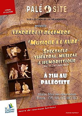 Photo : Charente-Maritime : Musique à l'aube au Paléosite, vend. 17 décembre 2010