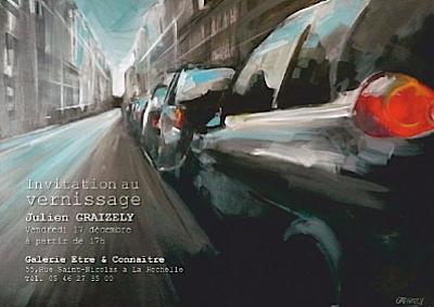 Photo : La Rochelle : Julien Graizely expose chez Être et Connaître, 12-2010 - 01-2011