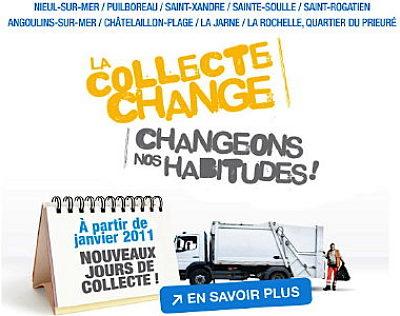 Photo : Agglo de La Rochelle : propreté, changement dans les collectes, janvier 2011