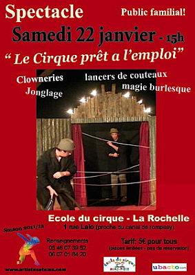 Photo : La Rochelle : spectacle familial, samedi 22 janvier 2011 à 15h