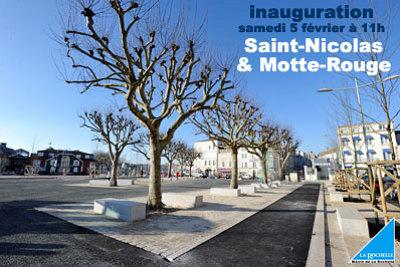 Photo : La Rochelle : Saint Nicolas - Motte Rouge, inauguration samedi 5 février 2011 à 11h !