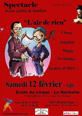 Photo : La Rochelle spectacle jeune public, samedi 12 février 2011 à 15h