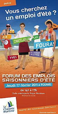Photo : Charente-Maritime : forums de l'emploi saisonnier 2011, les 17 et 24 février 2011