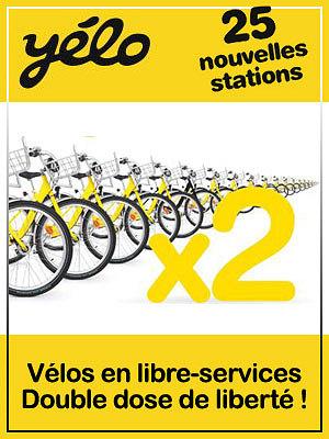 Photo : Yélo La Rochelle : 2x plus de stations, 2x plus de vélos dès le 4 mars 2011