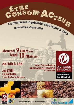 Photo : La Rochelle : le commerce équitable au CDIJ les 9 et 10 mars 2011