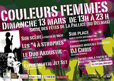 Photo : La Rochelle : Couleurs femmes, expos et concerts dimanche 13 mars 2011