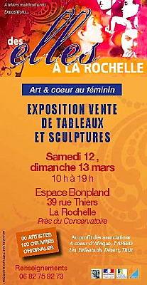 Photo : La Rochelle : Art & coeur au féminin, exposition-vente  12 et 13 mars 2011