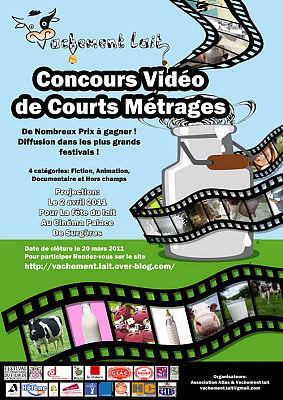 Photo : Surgères - Charente-Maritime : concours de court-métrage Vachement Lait mars 2011